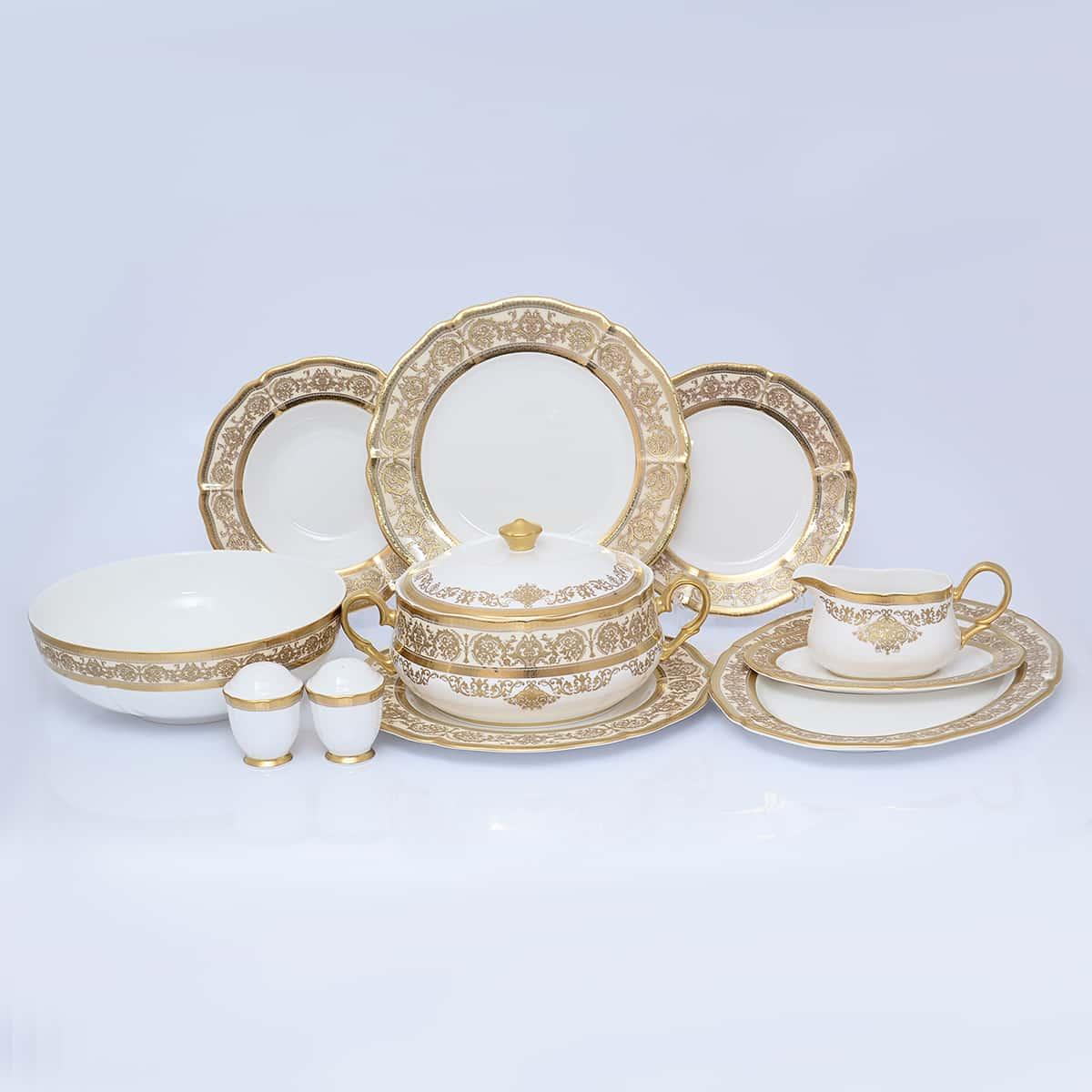 Столовый сервиз GOLDEN ROMANCE CREAM Gold Prouna на 6 персон 27 предметов