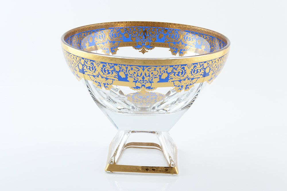 Конфетница 24,5см Natalia Golden Blue Decor Astra Gold