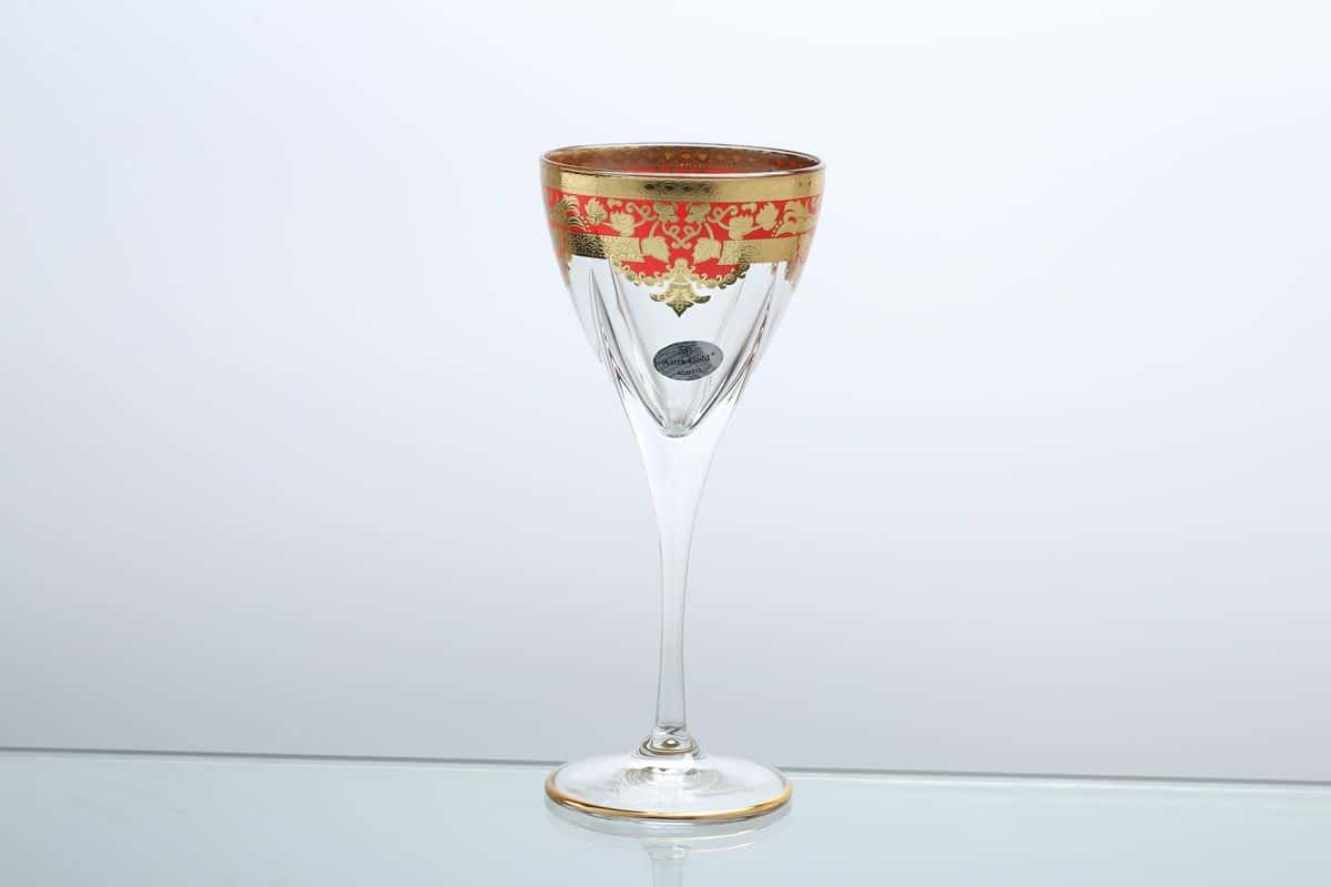 Набор бокалов для вина 210 мл Natalia Golden Red Астра Голд