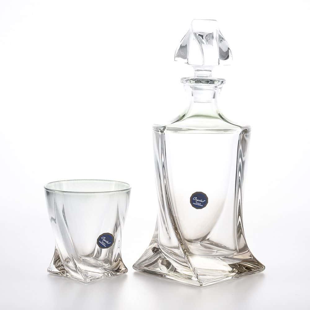 Набор стаканов для виски 340 мл Quadro Bohemia Gold