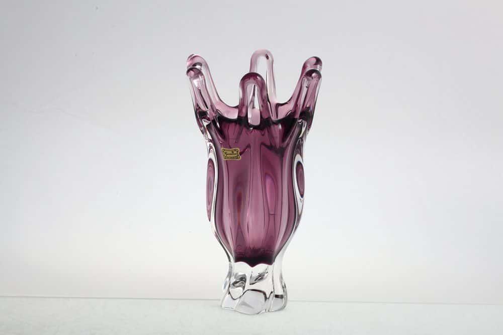 Ваза для цветов 25 см Egermann фиолетовая на ножке