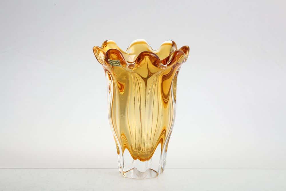 Ваза для цветов 19 см Egermann медовая