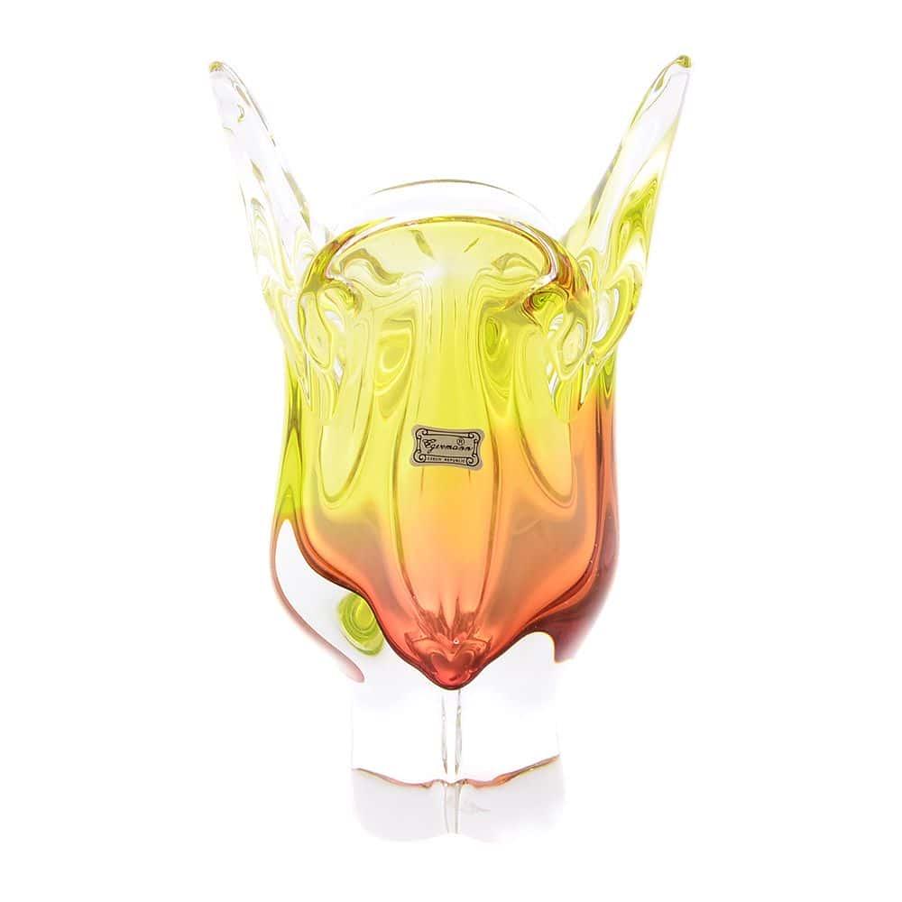 Ваза для цветов 24 см Egermann салатовая/медовая