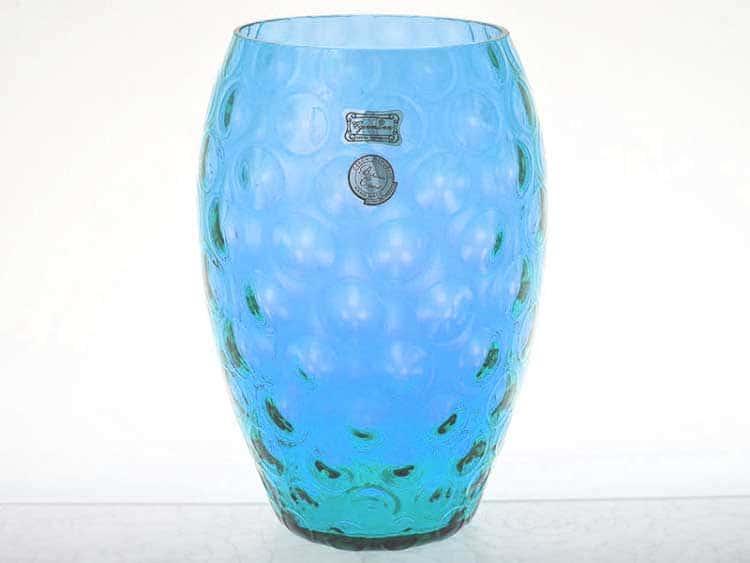 Ваза для цветов 20 см Egermann голубая матовая