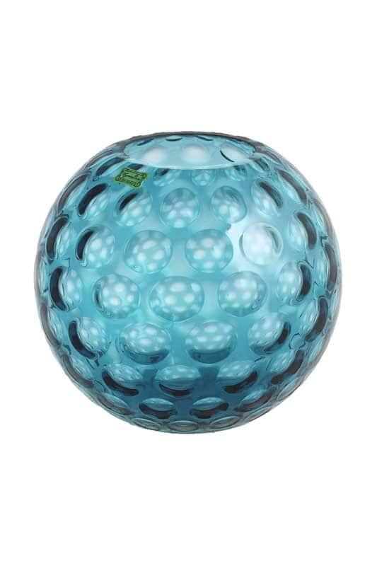 Ваза для цветов 20 см Egermann голубая матовая круглая