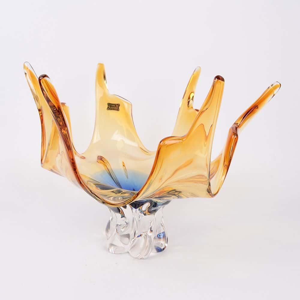 Фруктовница 38 см Egermann медовая/синяя