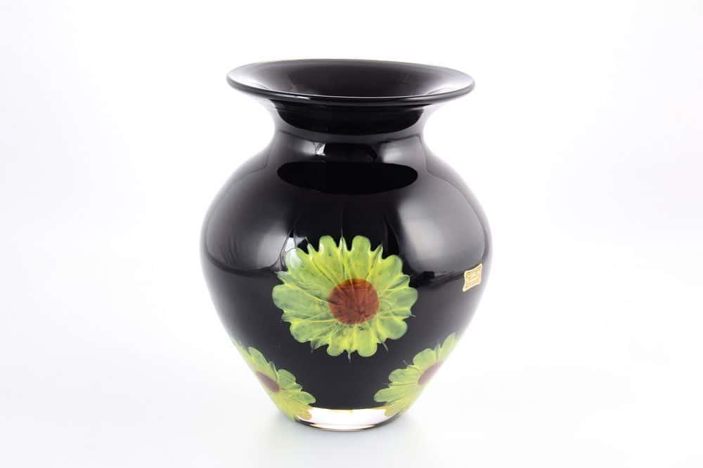 Ваза для цветов 20 см Egermann цветок черная