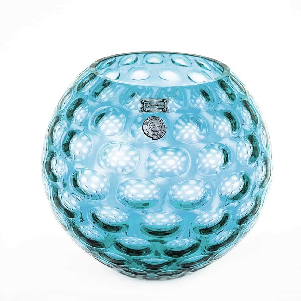 Ваза для цветов 20 см Egermann голубая круглая