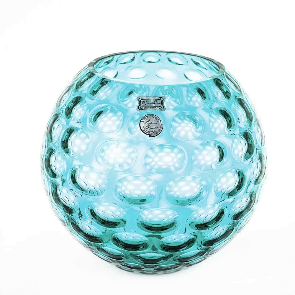 Ваза для цветов 25,5 см Egermann голубая круглая