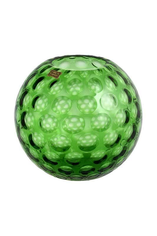 Ваза для цветов 20 см Egermann зеленая круглая 36054