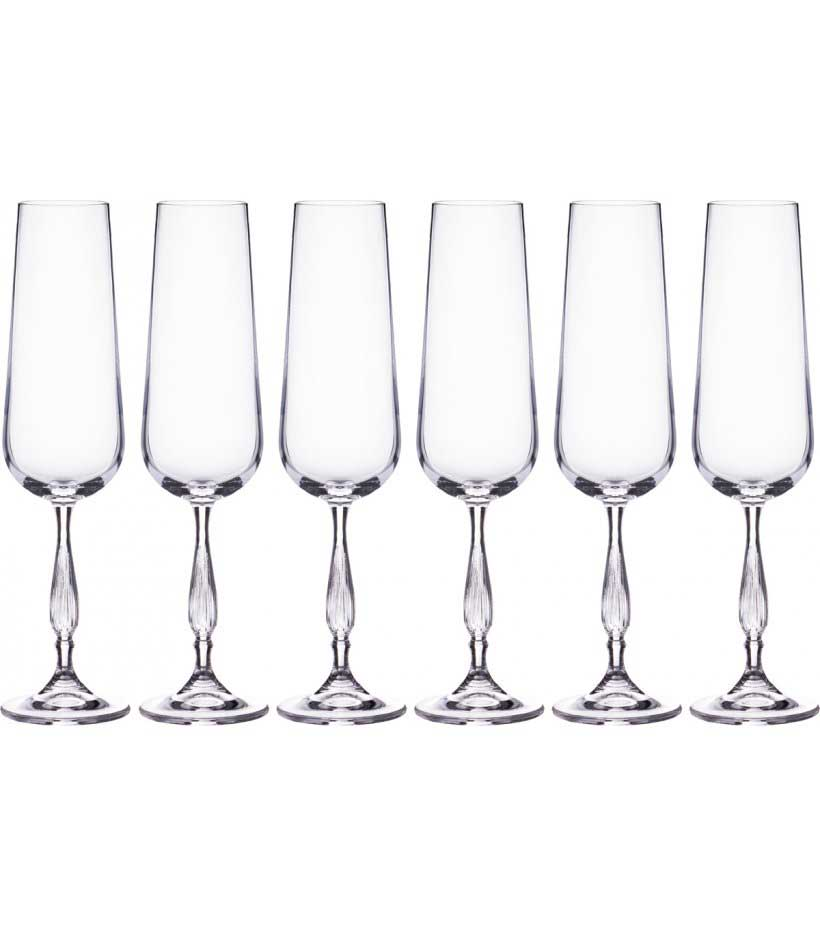 Набор фужеров для шампанского Scopus/Evita Crystalite 220мл(6 шт)