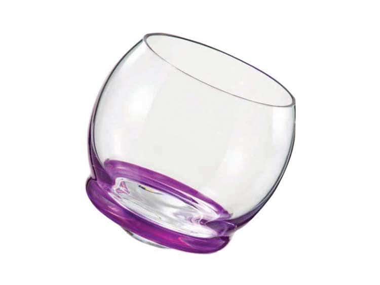 Стакан для воды Crazy 390 мл фиолетовый (1 шт)