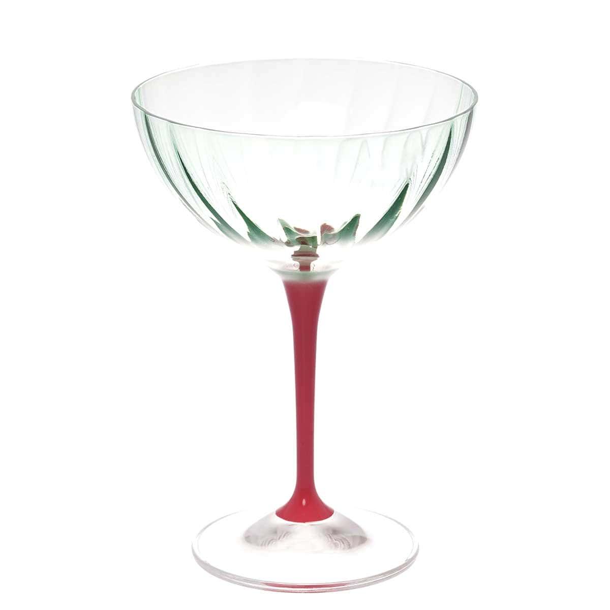 Набор фужеров для шампанского Kate Crystalex зеленые 210мл(6 шт)