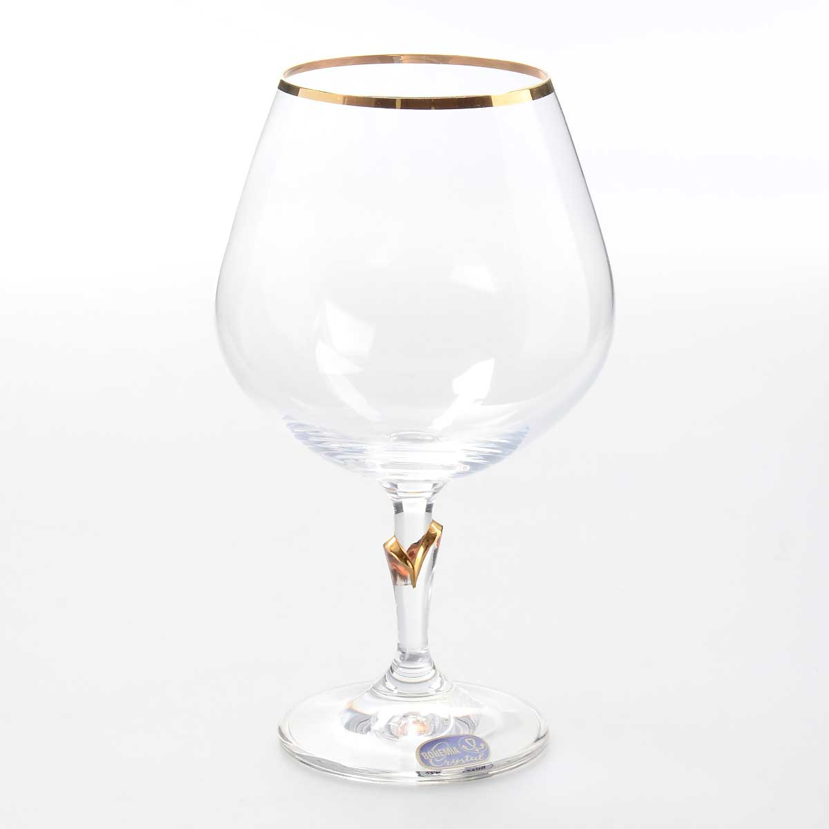 Набор бокалов для бренди Lilly Crystalex Bohemia 400 мл (6 шт)