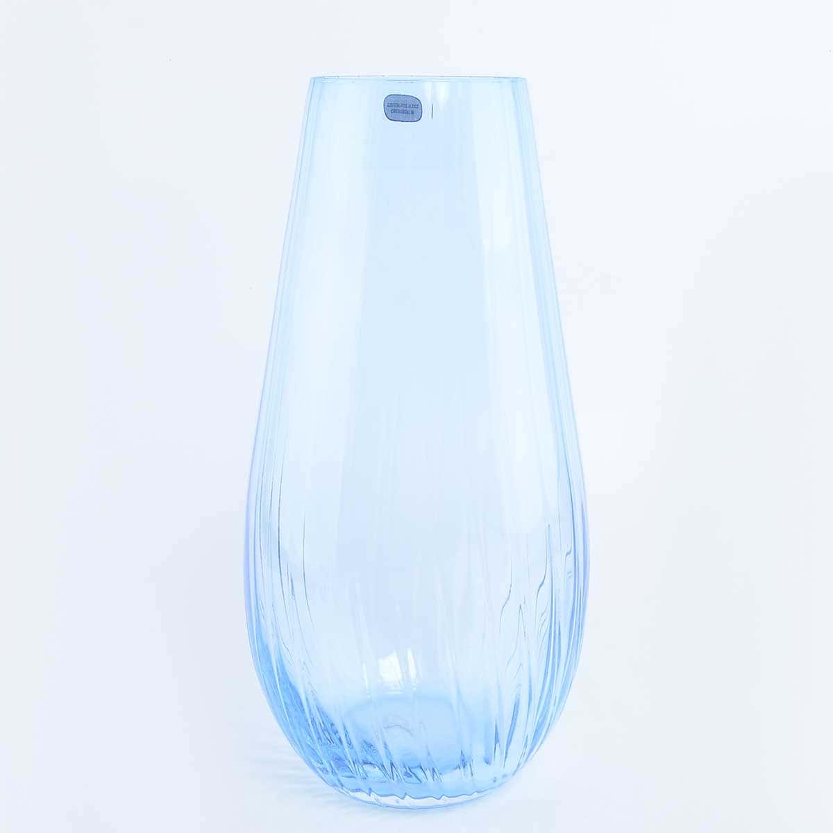 Ваза для цветов Waterfall Crystalex Bohemia 30см голубая