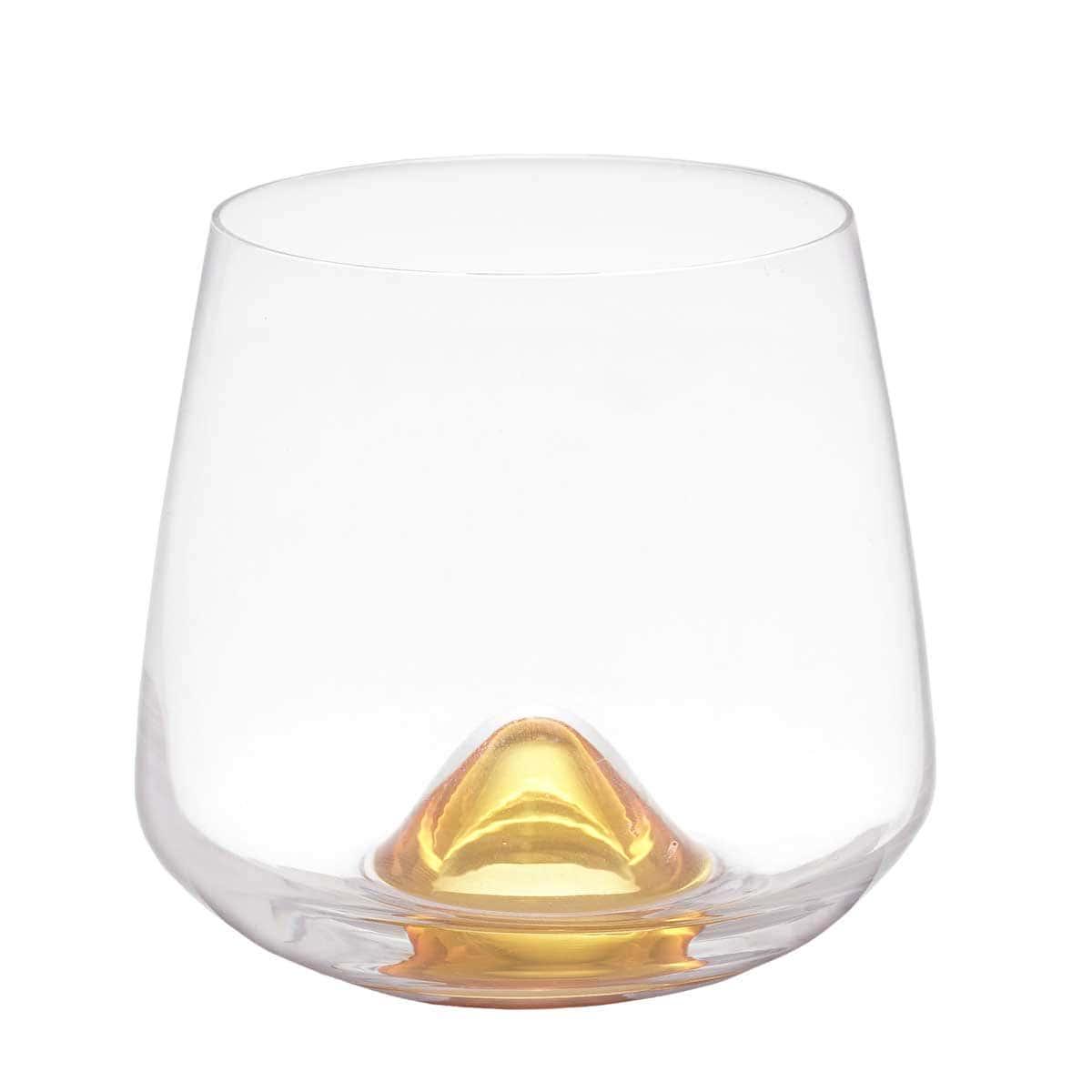 Набор стаканов для воды Кристалекс желтый (6 шт)