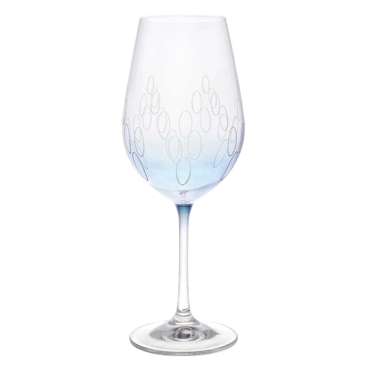 Набор бокалов для вина Арлекино Crystalex 450 мл (6 шт) голубые