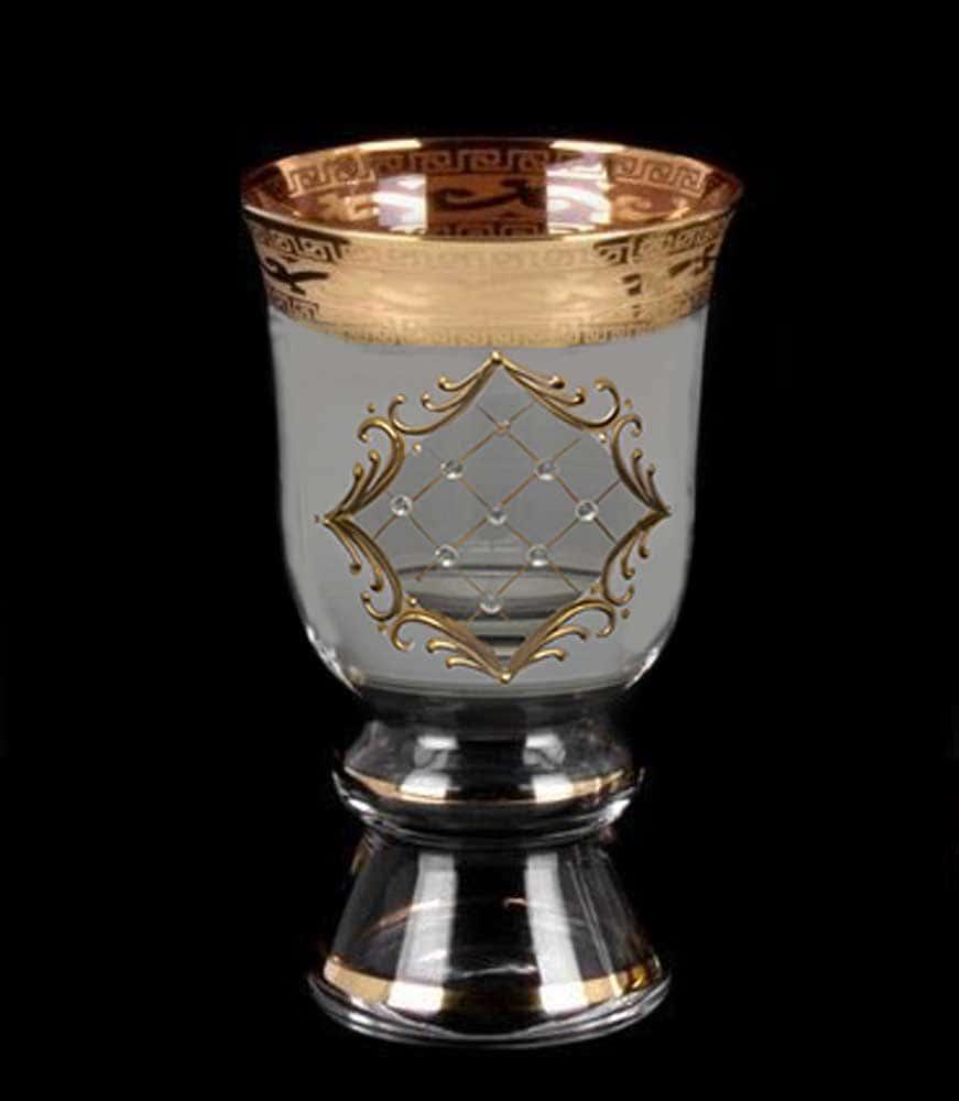 Стакан для воды королевские Версаче стразы Кам B-G фон