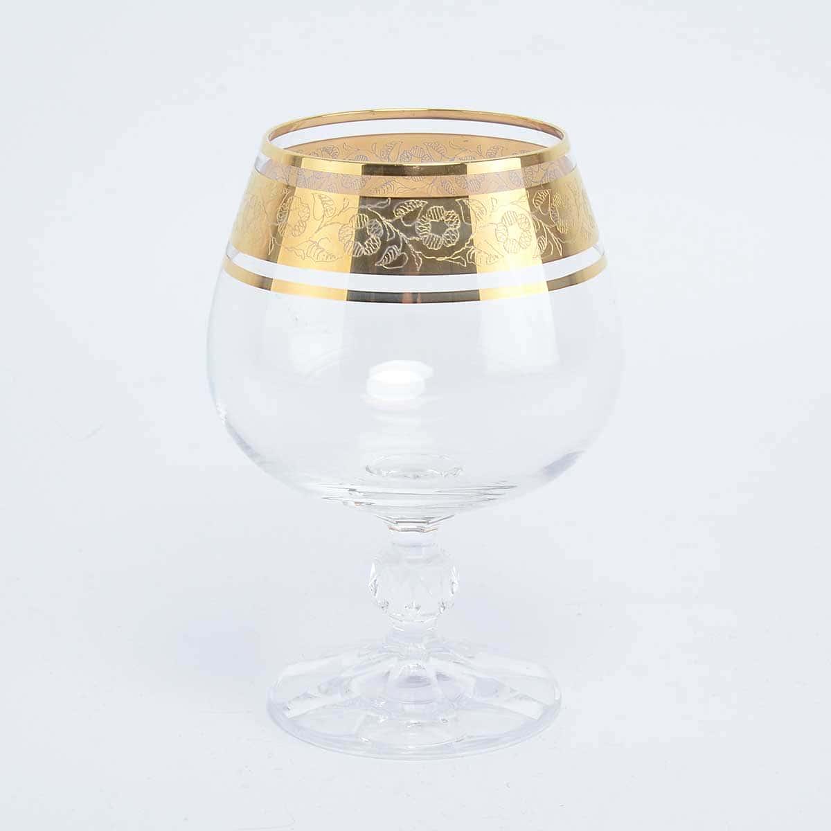 Набор бокалов для бренди Клаудиа Золото V-D Crystalex Bohemia 250 мл(6 шт)