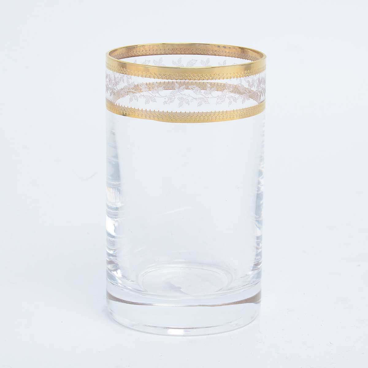 Набор стаканов для воды Золотой Лист V-D Crystalex Bohemia 150 мл(6 шт)