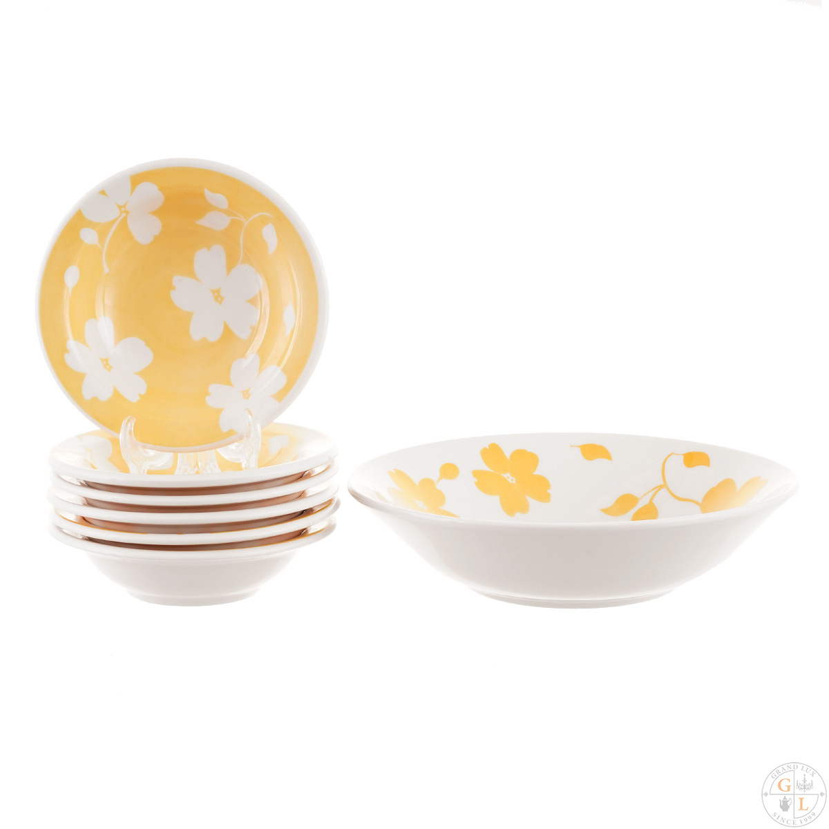 Десертный набор Oxford 7 предметов (тарелка для фруктов + 6 десертных тарелок) круглые