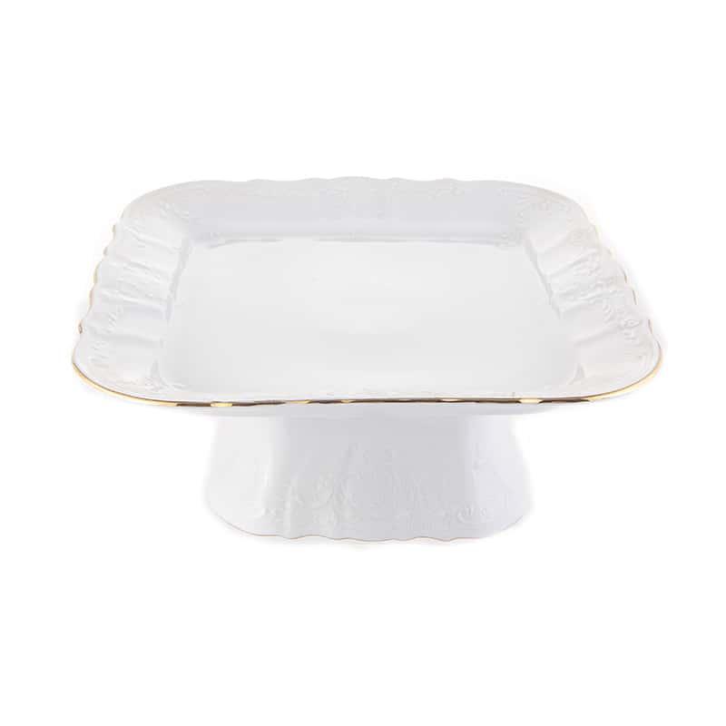Блюдо для рыбы Бернадот белый 52 см 03661