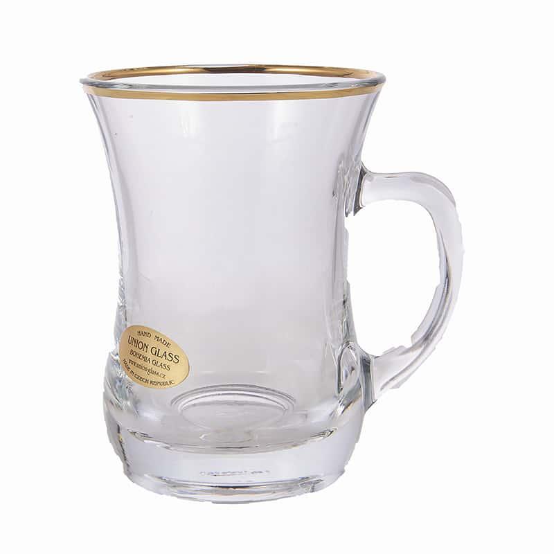 Набор для чая 225мл.на 6перс. Union Glass зол.
