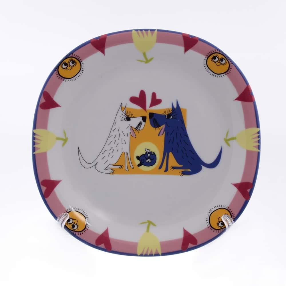 Тарелка Benedikt Baby Porcelain 24 см Собачья семья