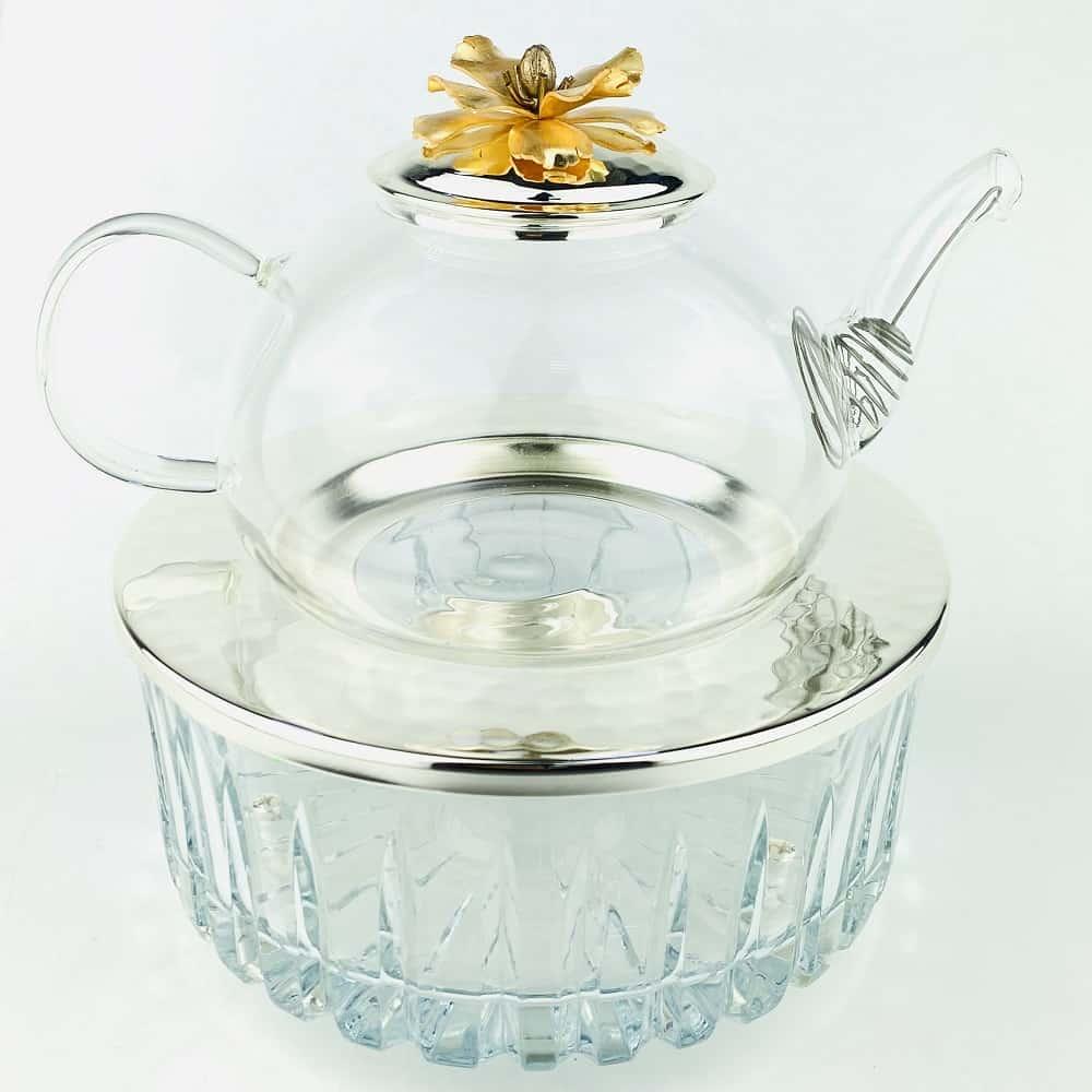 Чайник заварочный с подставкой.