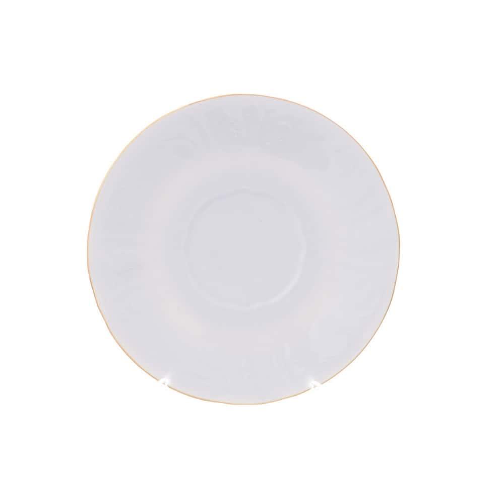 Блюдце Bernadotte Белый узор 18 см