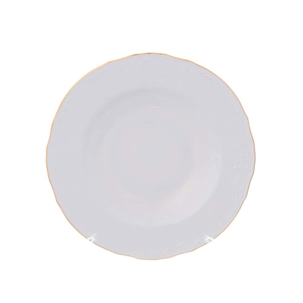 Набор тарелок глубоких Bernadotte Белый узор 21см(6 шт)