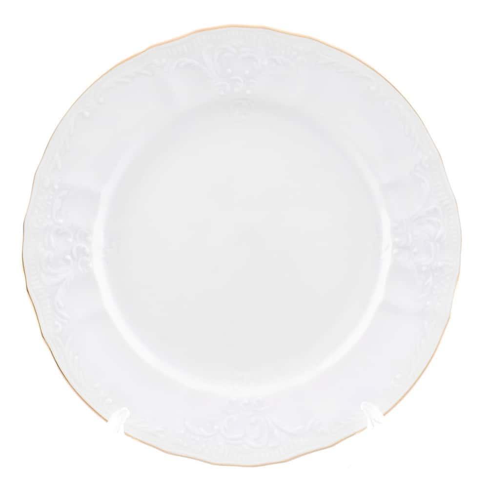 Тарелка Bernadotte Белый узор 17 см(1 шт)