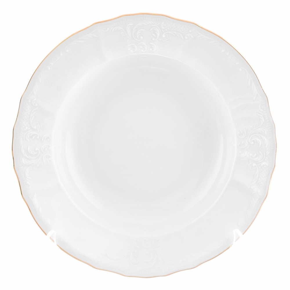 Тарелка глубокая Bernadotte Белый узор 23 см(1 шт)