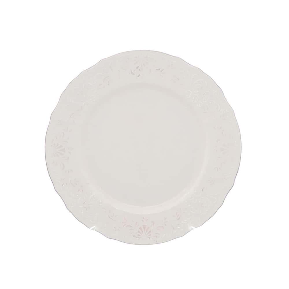 Тарелка Bernadotte Платиновый узор Be-Ivory 25 см(1 шт)