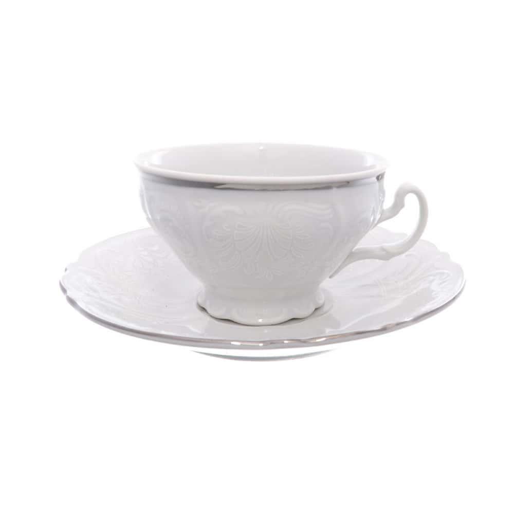 Чайная пара Bernadotte Платиновый узор 220 мл(1 пара)