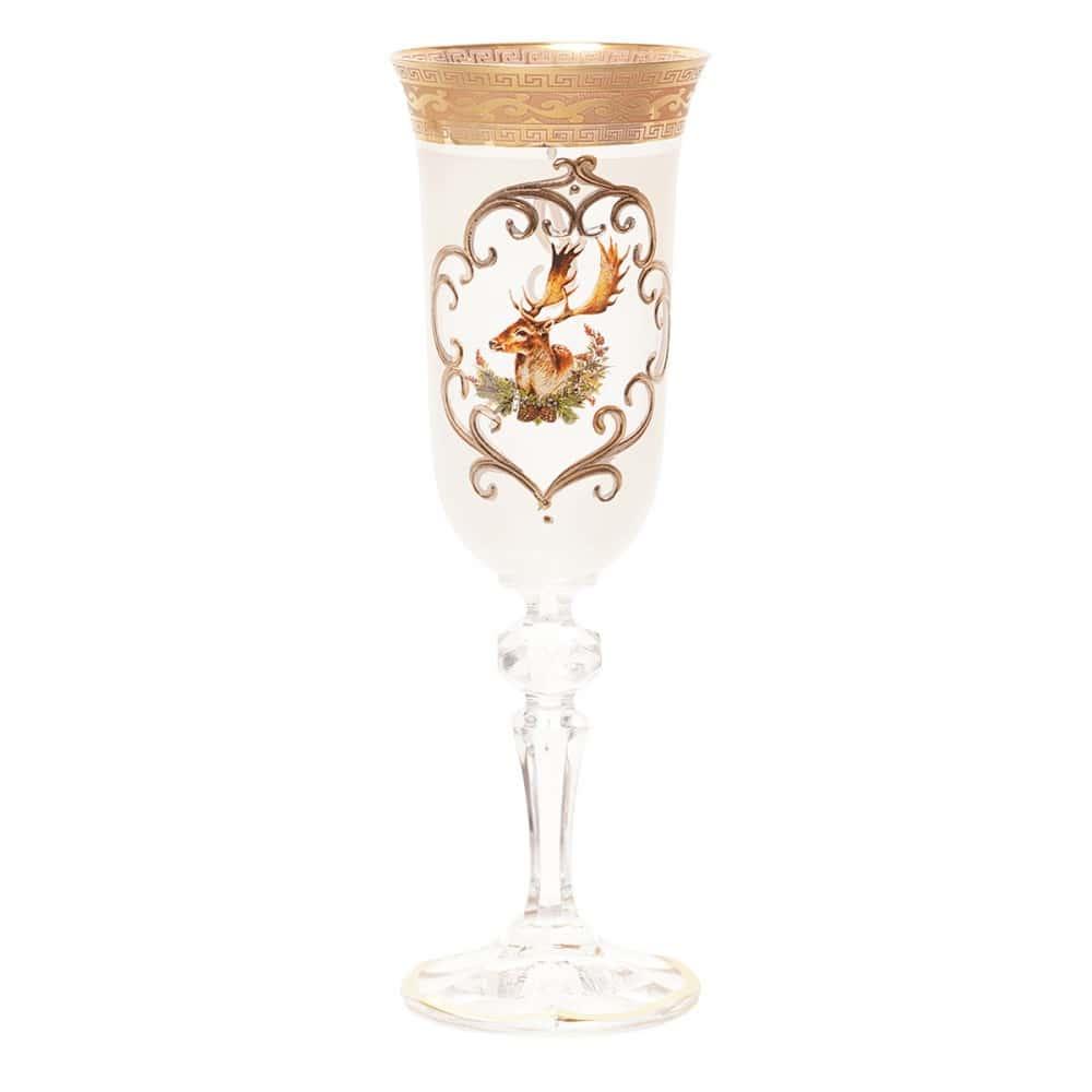Набор фужеров для шампанского Bohemia Охота белая Кристина 190мл (6 шт)
