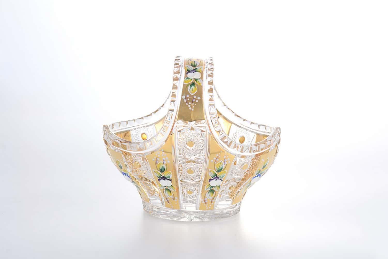 Корзинка золото Bohemia Max Crystal 20 см
