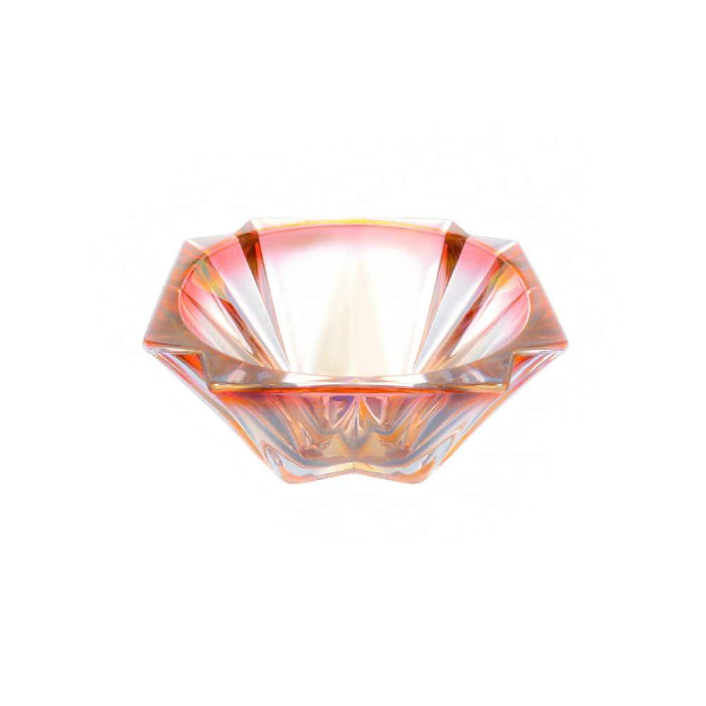 Конфетница розовая Bohemia Gold Metropolitan 15 см
