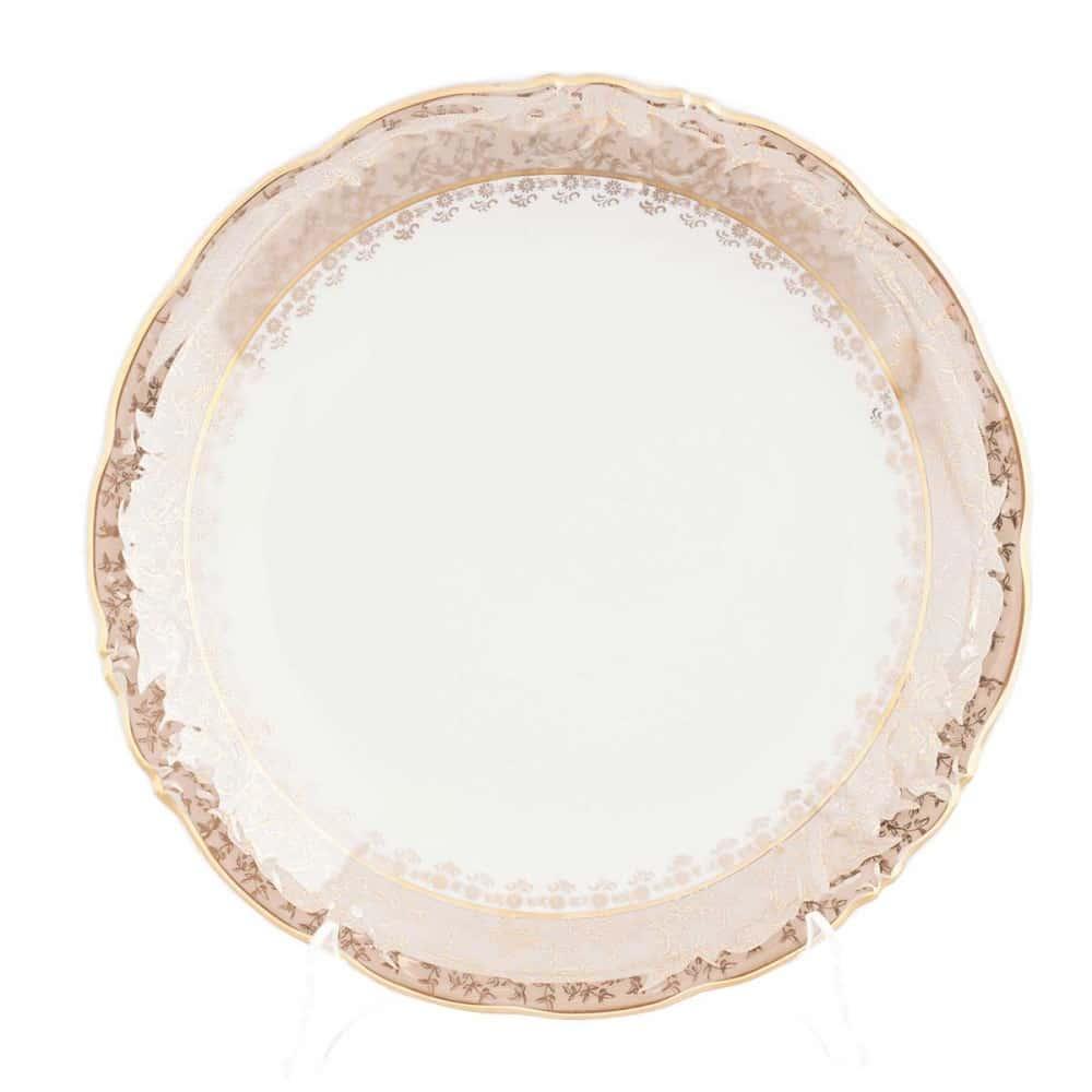 Блюдо круглое Carlsbad Фредерика Лист Бежевый 30 см