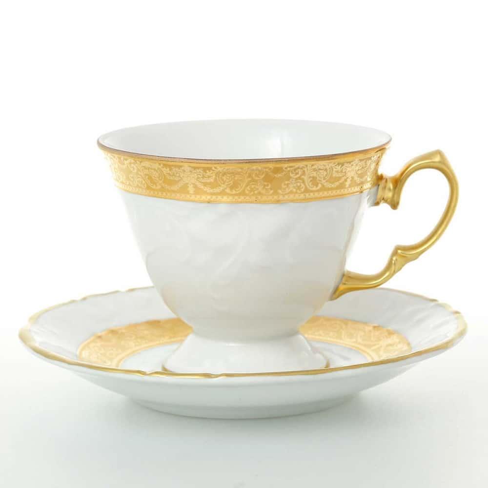 Набор кофейных пар Carlsbad Мария Луиза матовая полоса 140 мл