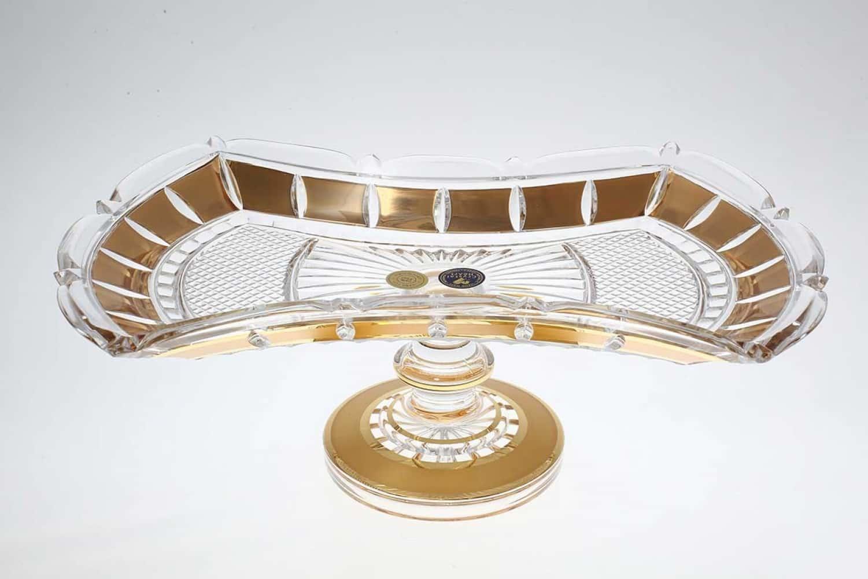 Фруктовница Crystal Heart 33 см на ножке