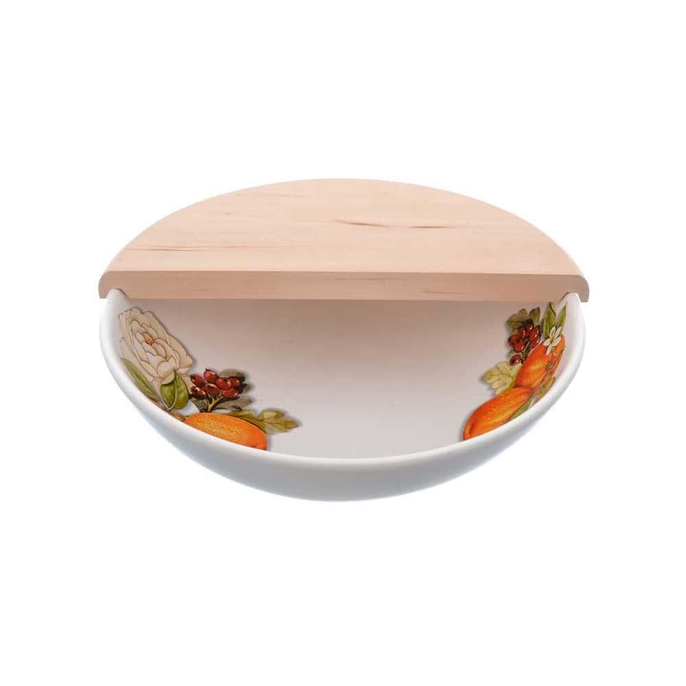 Набор салатник с разделочной доской Arance&Rose NUOVA CER 2 предмета