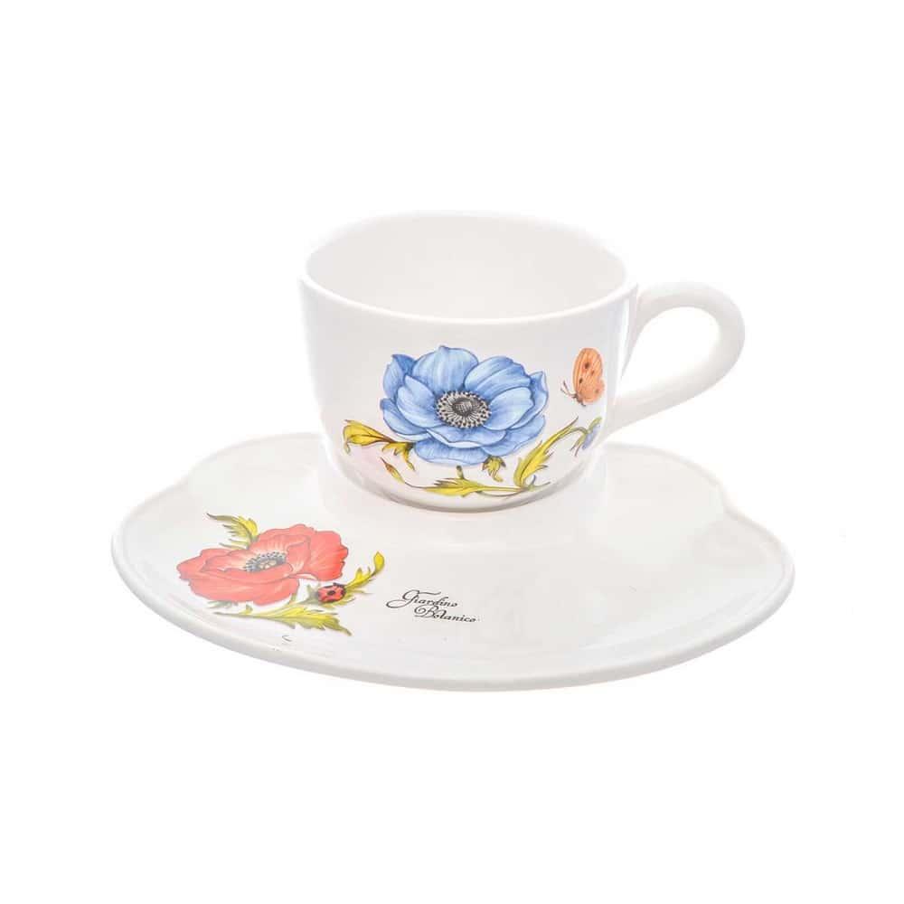 Набор чашка с блюдцем Синий цветок NUOVA CER 2 предмета