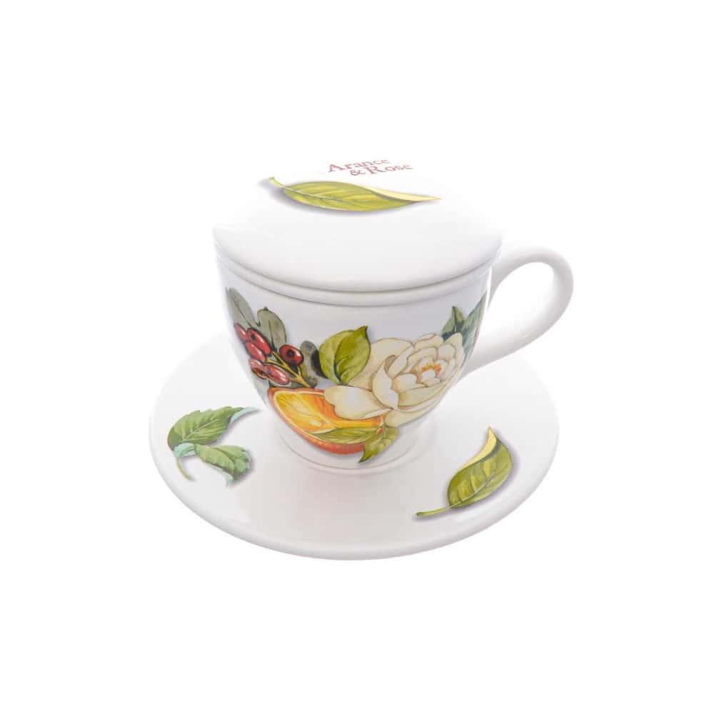 Набор чашка с блюдцем Arance&Rose NUOVA CER 2 предмета