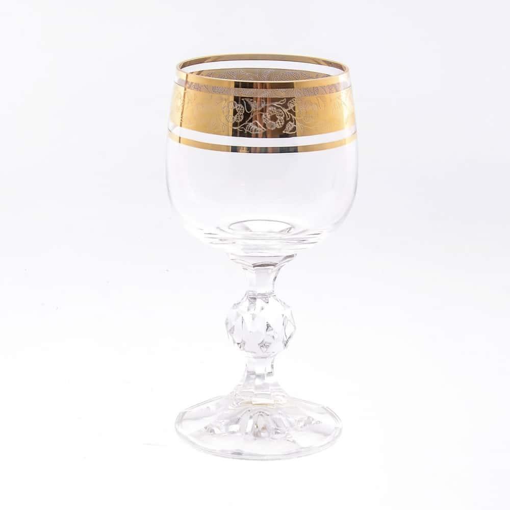Набор бокалов для вина Клаудиа Золото V-D Crystalex Bohemia 150 мл(6 шт)