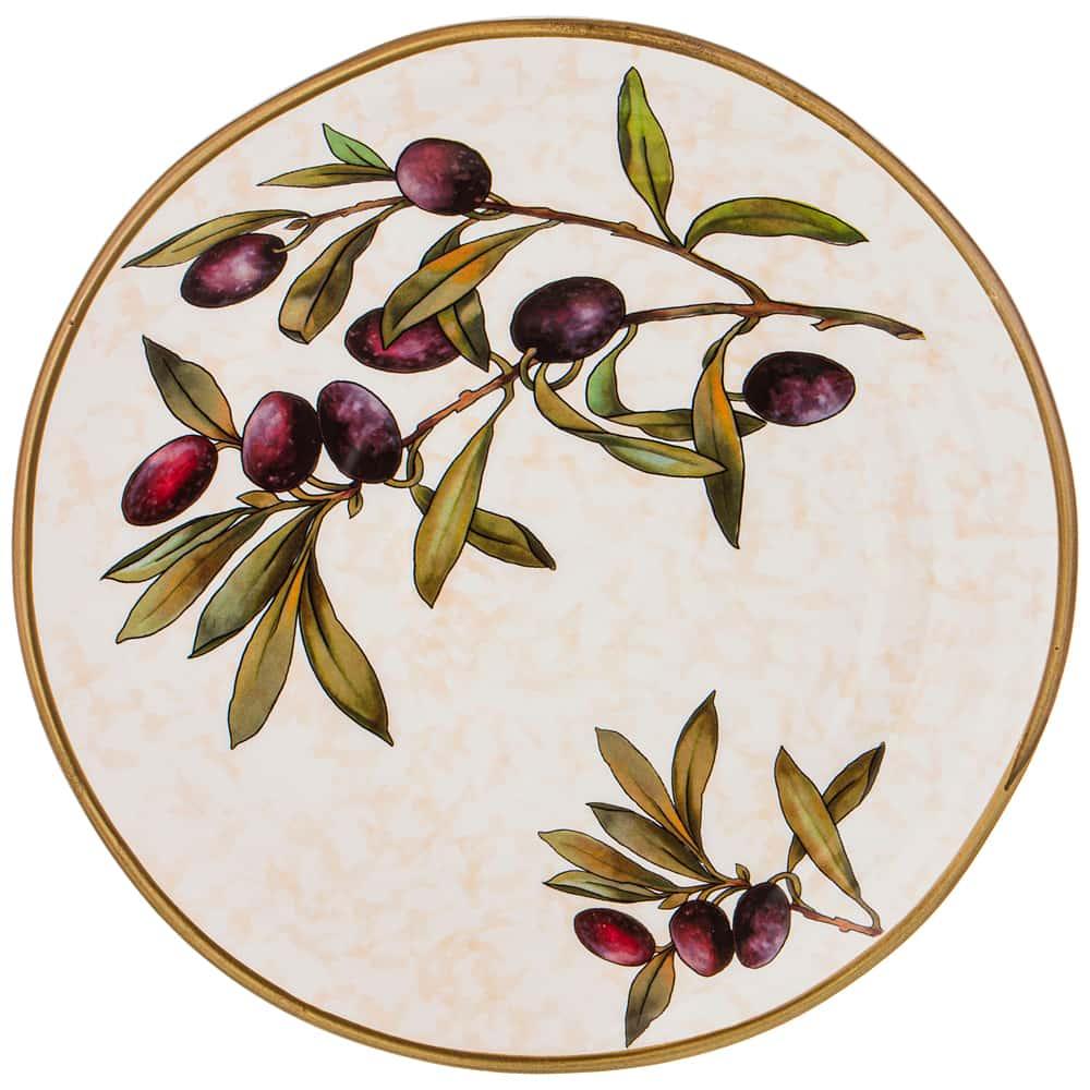Тарелка обеденная 29 см Итальянские оливки LCS без упаковки
