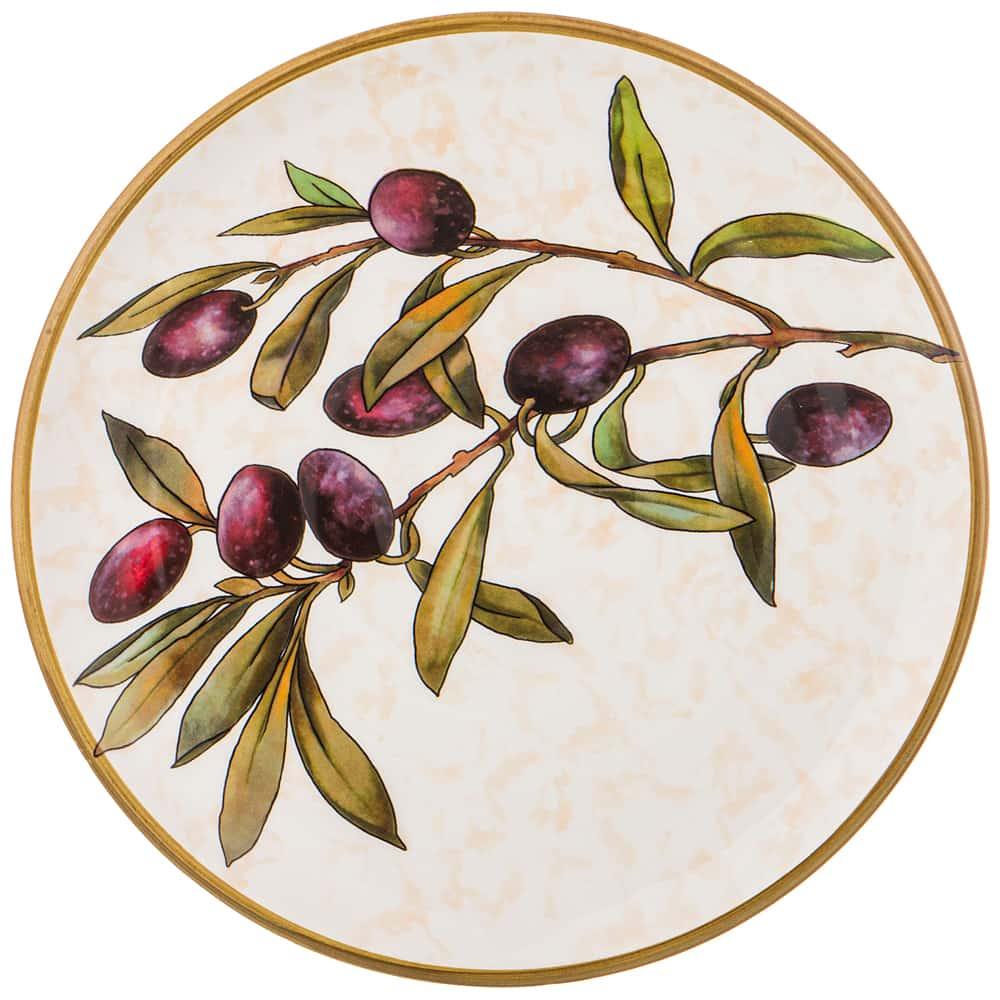 Тарелка закусочная 23 см Итальянские оливки LCS без упаковки