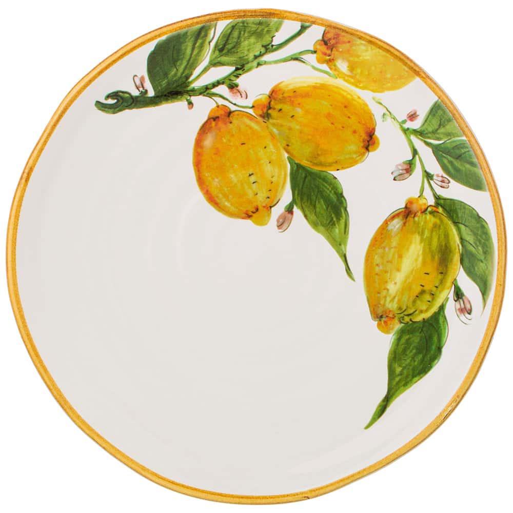 Тарелка закусочная 23 см Итальянские лимоны LCS без упаковки