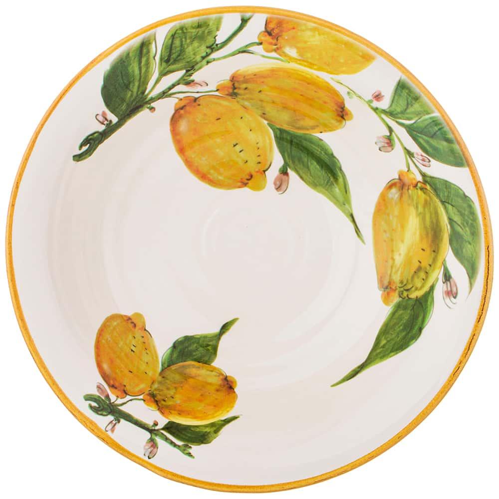 Салатник 27 см высота 8 см Итальянские лимоны LCS без упаковки