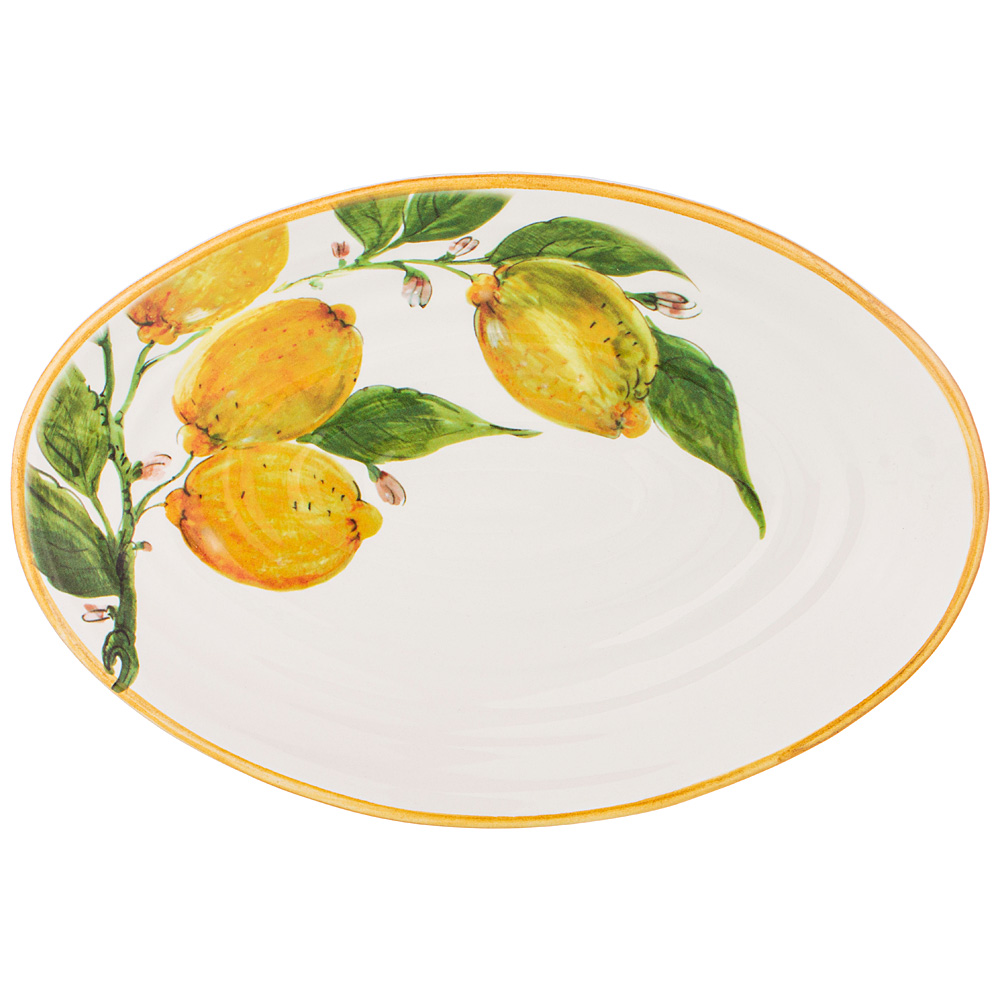 Блюдо овальное 34х22 см Итальянские лимоны LCS без упаковки